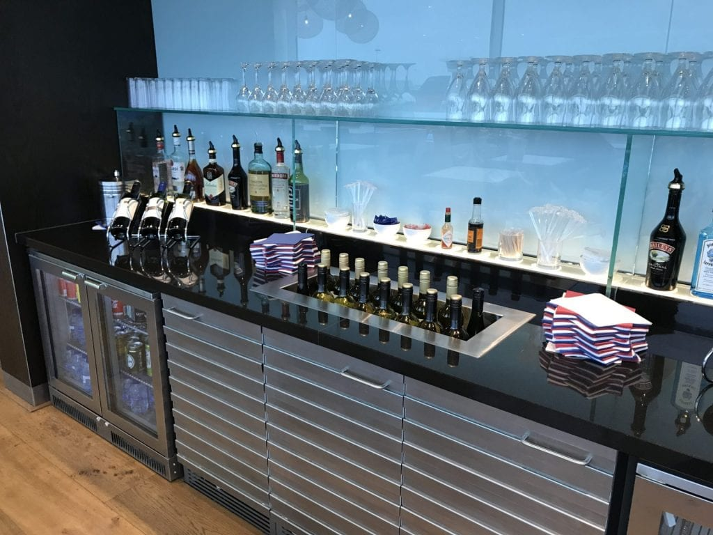 British Airways Lounge Amsterdam Getraenke