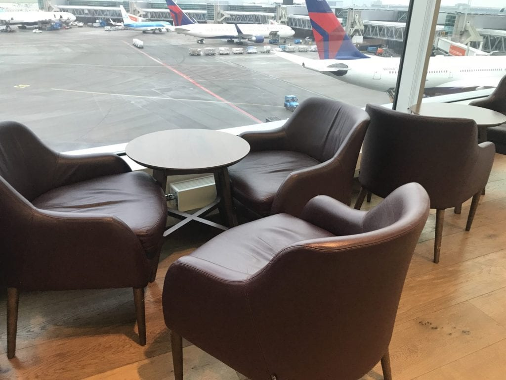 British Airways Lounge Amsterdam Sitzbereich