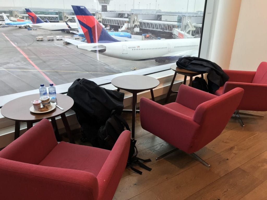 British Airways Lounge Amsterdam Sitzbereich 3