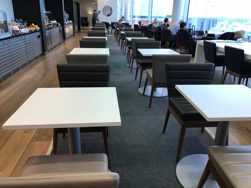 British Airways Lounge Amsterdam Speisebereich