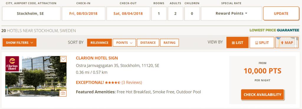 Choice Stockholm Beispiel