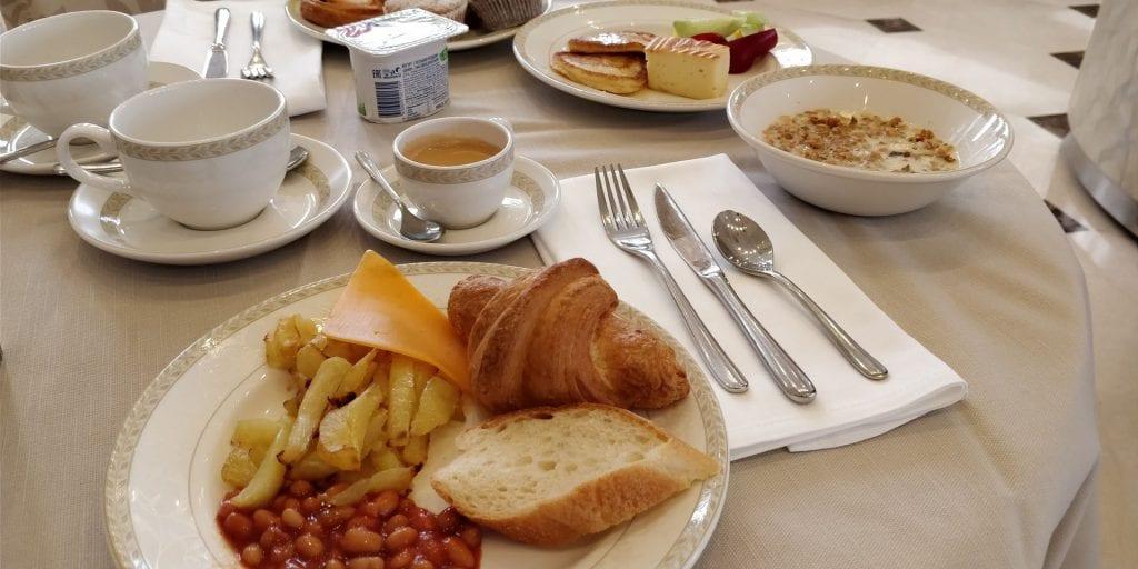 Crowne Plaza Moskau World Trade Centre Frühstück Auswahl
