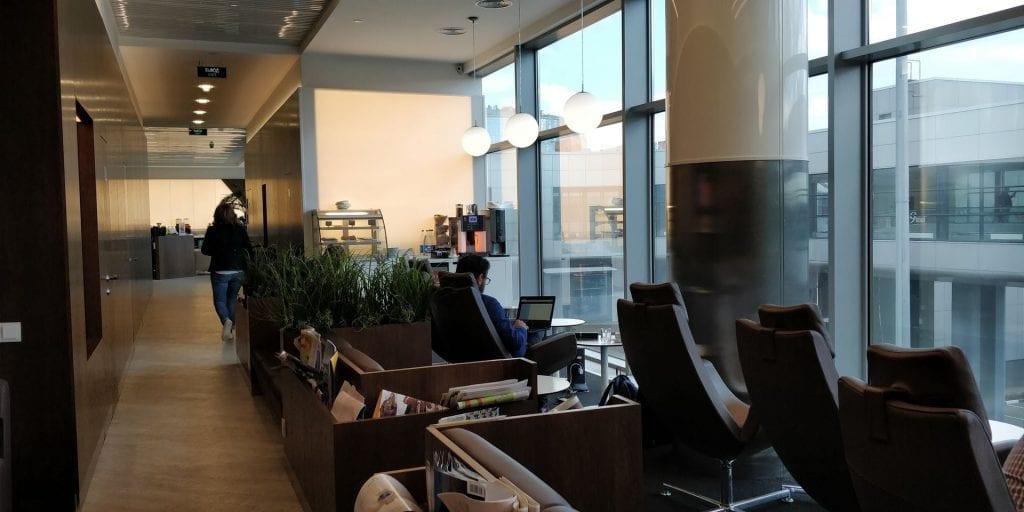 Gallery Lounge Moskau Sessel Ausblick