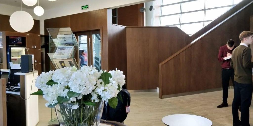 Gallery Lounge Moskau Treppe