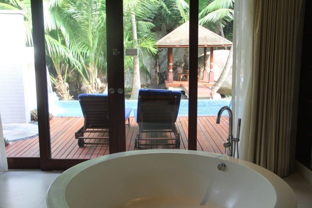 Hilton Seychelles Labriz Resort Deluxe Hillside Pool Villa Bathroom 7