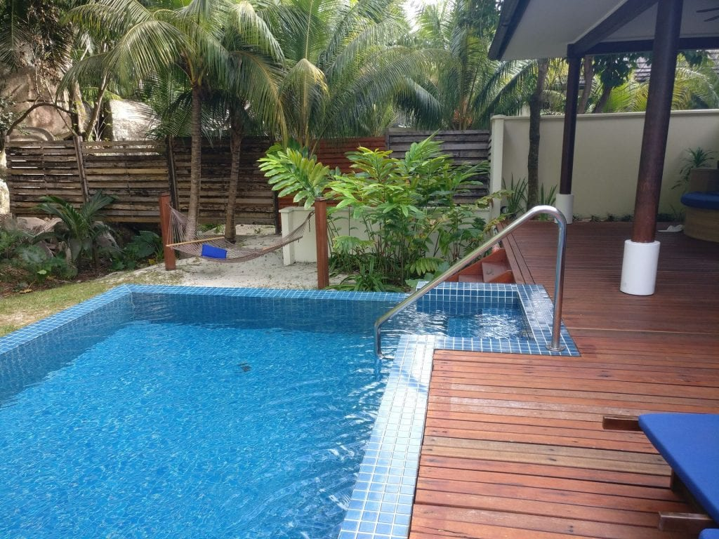 Hilton Seychelles Labriz Resort Deluxe Hillside Pool Villa Garden 10