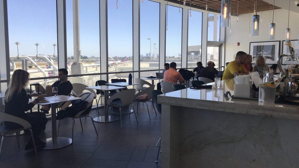 american express centurion lounge miami restaurant bar