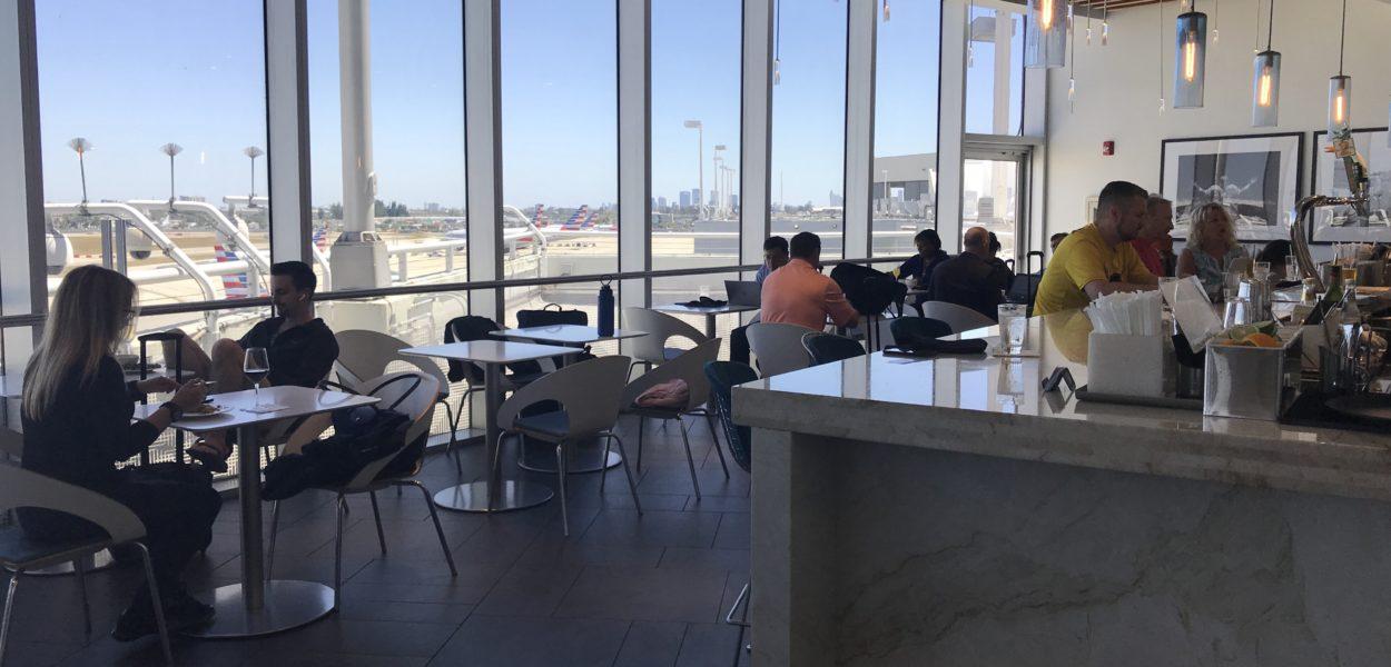 american express centurion lounge miami restaurant bar