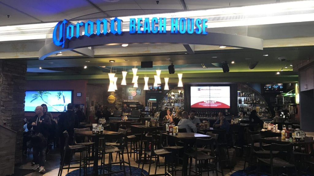corona beach house miami airport priority pass restaurant