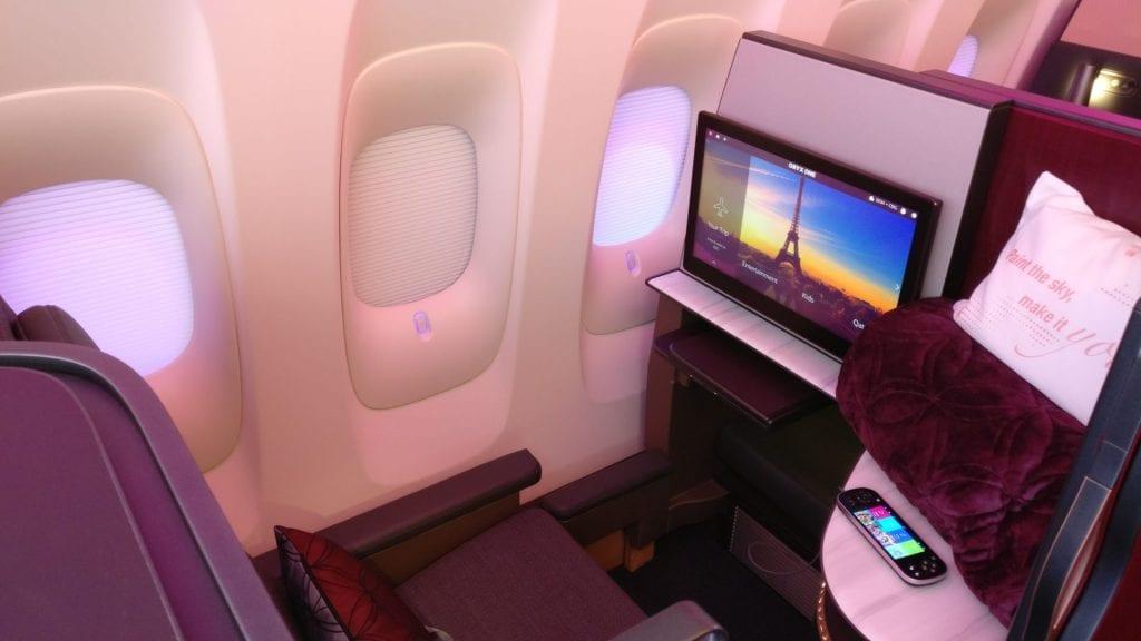 qatar airways business class qsuites amex gold 40000