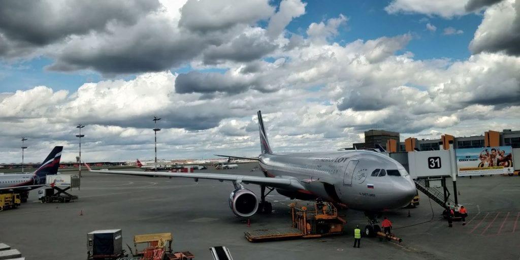 Aeroflot Airbus A330 Moskau Flugzeug