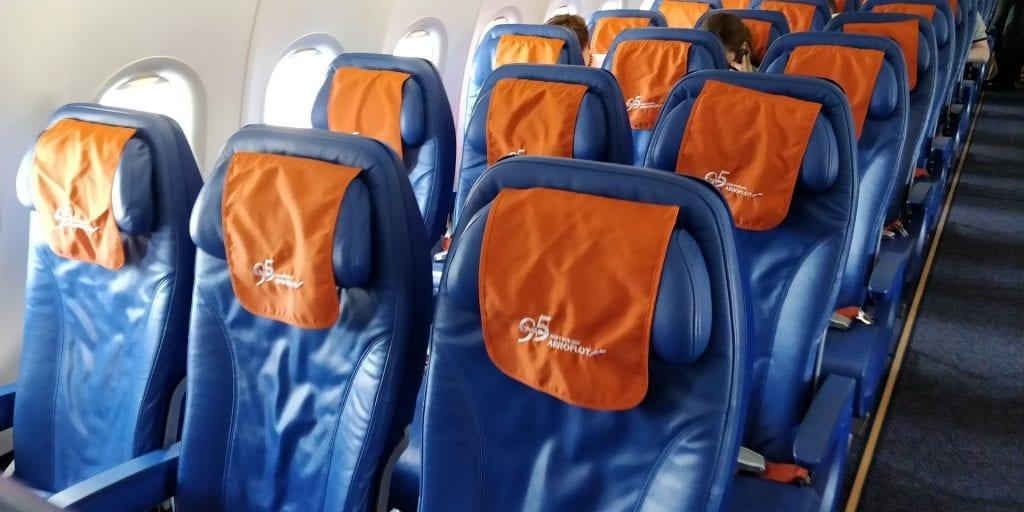 Aeroflot Economy Class Airbus A320 Sitze