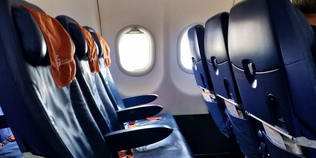 Aeroflot Economy Class Airbus A320 Sitze Seite