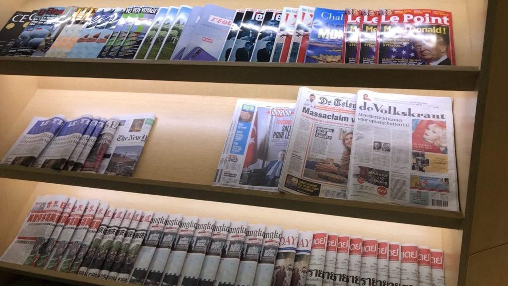 Air France KLM Lounge Bangkok - Zeitschriften