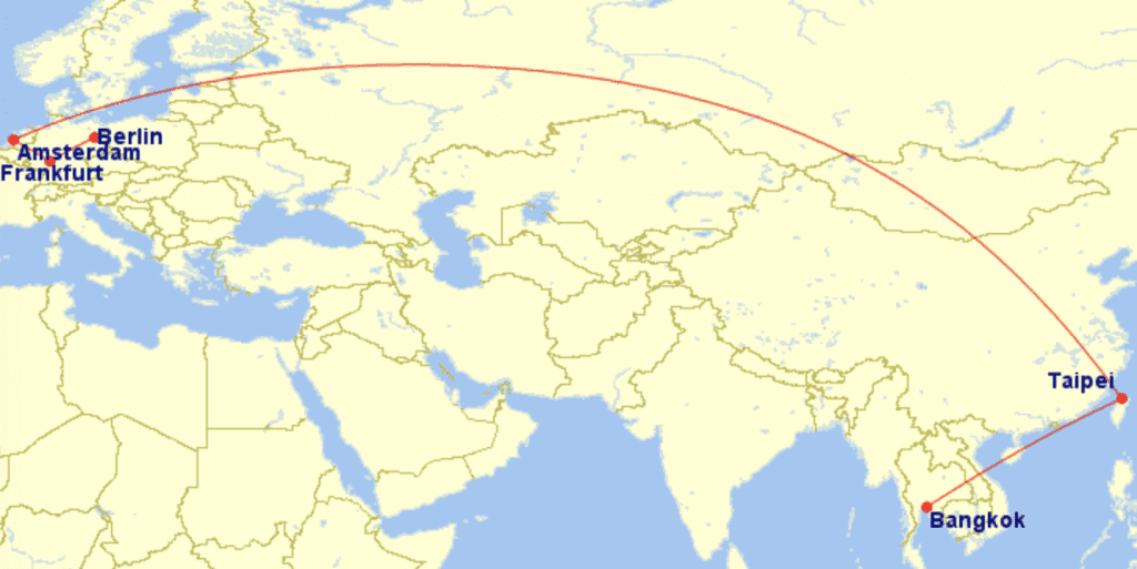 Eva Air Route Bangkok