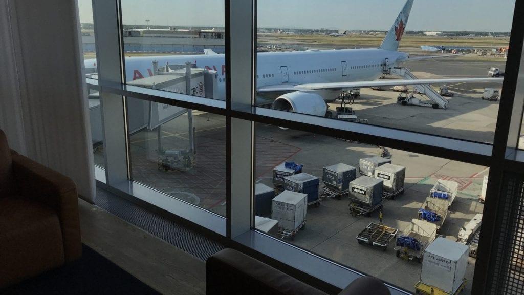 Lufthansa Senator Lounge Frankfurt Terminal 1B – Ausblick