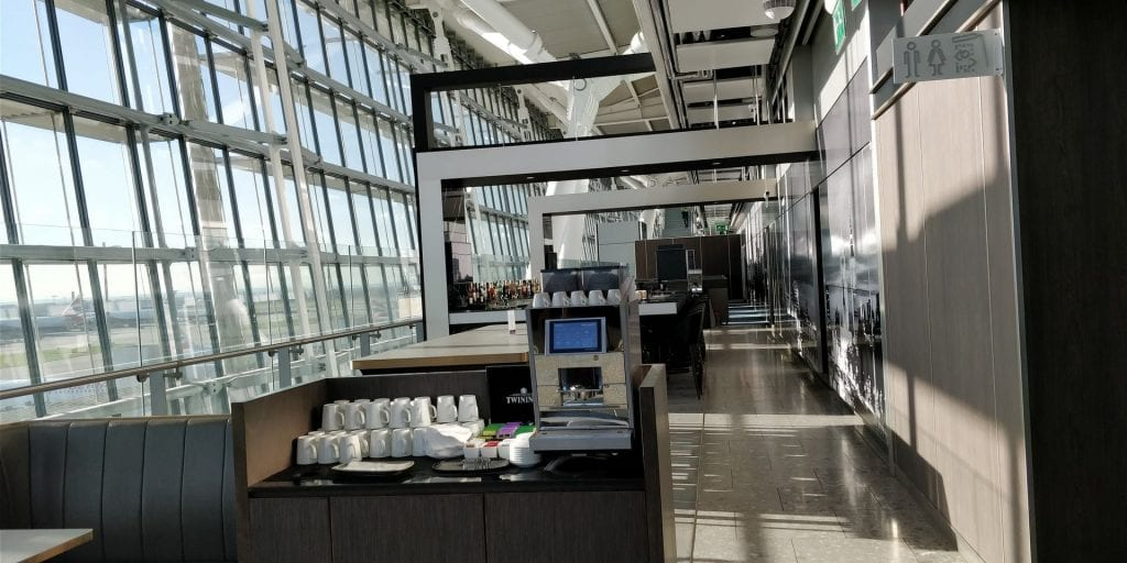 Plaza Premium Lounge London Heathrow T5 Gang Kaffeemaschine