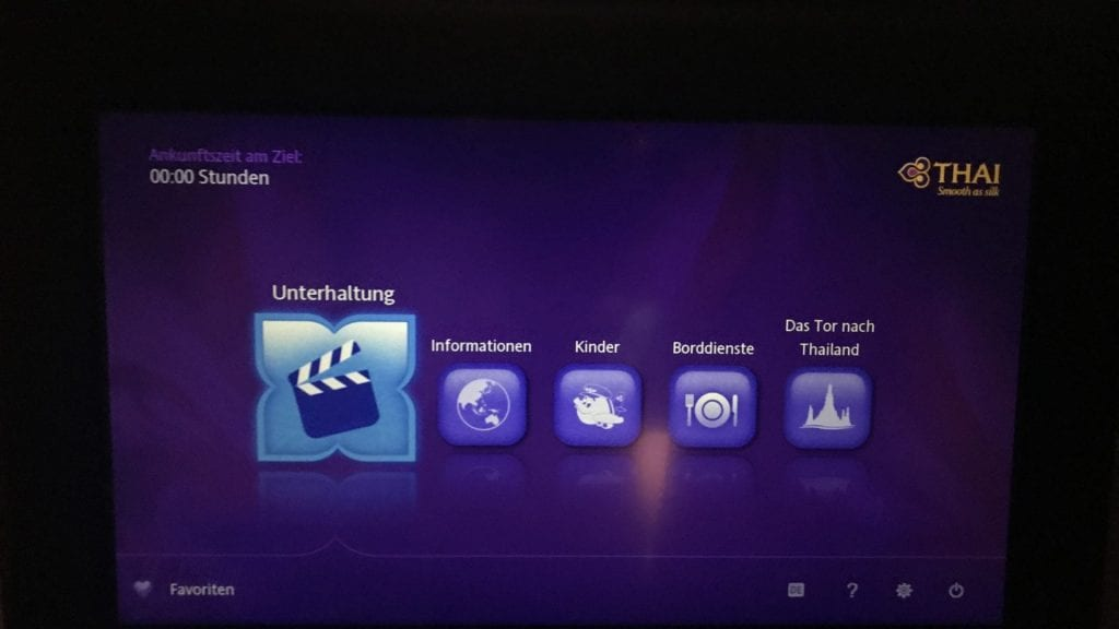 Thai Airways Business Class A350 - IFE