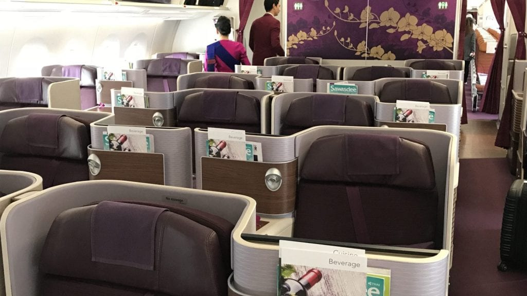 Thai Airways Business Class A350 - Kabina