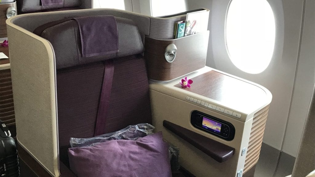 Thai Airways Business Class A350 - Sitz 1