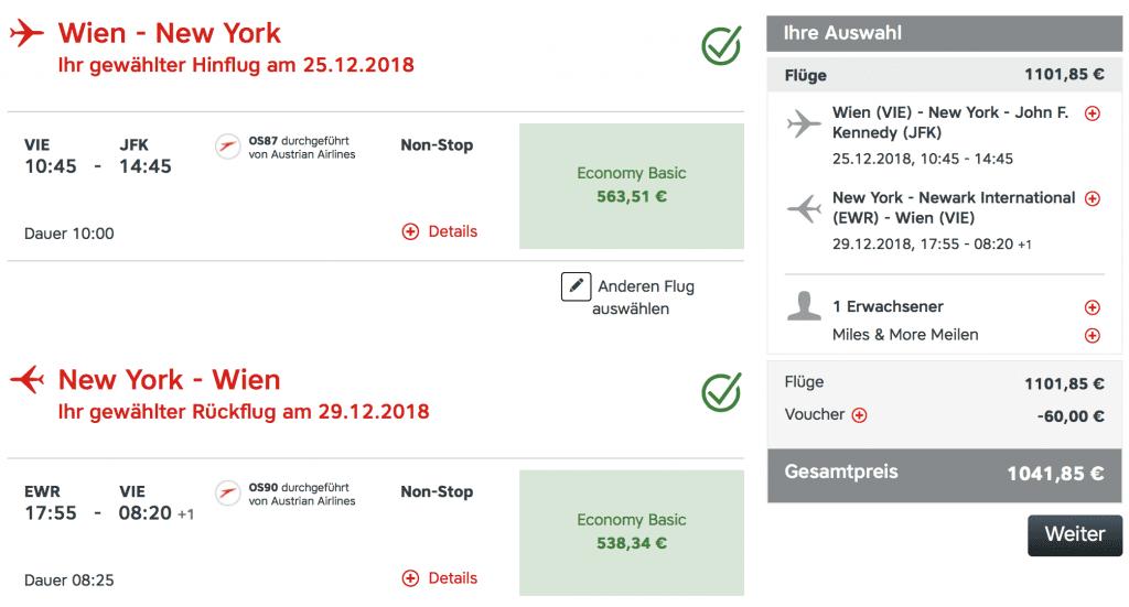 Austrian Airlines Gutschein Juli 2018