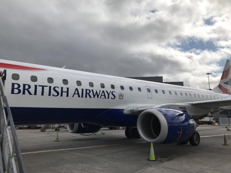 British Airways Business Class Kurzstrecke Embrear 190