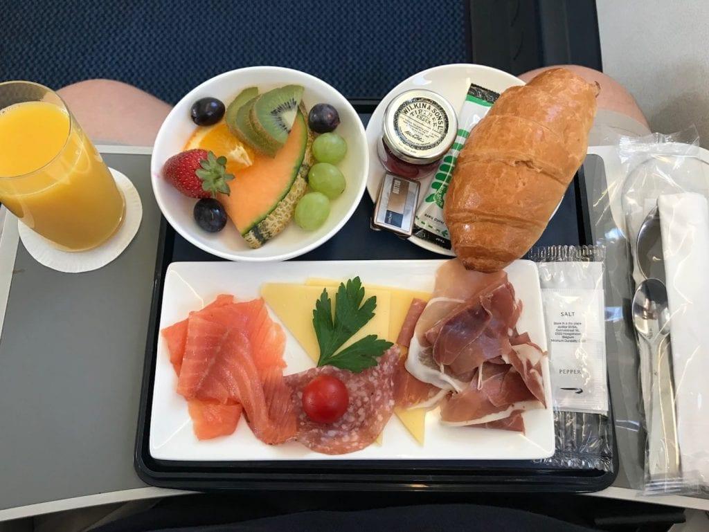 British Airways Business Class Kurzstrecke Verpflegung