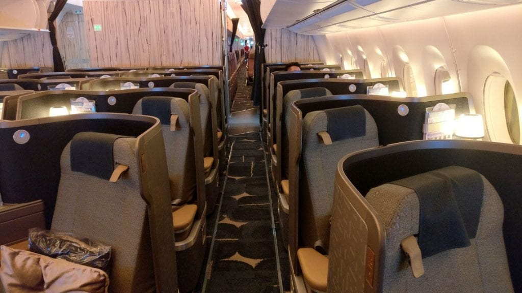 China Airlines Business Class Airbus A350 Cabin