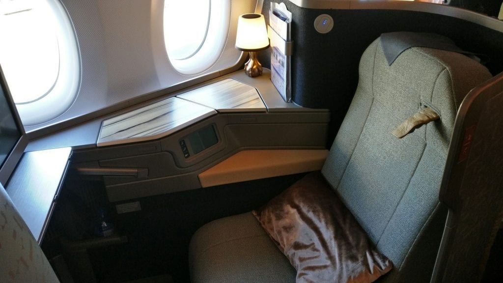 China Airlines Business Class Airbus A350 Seat 4