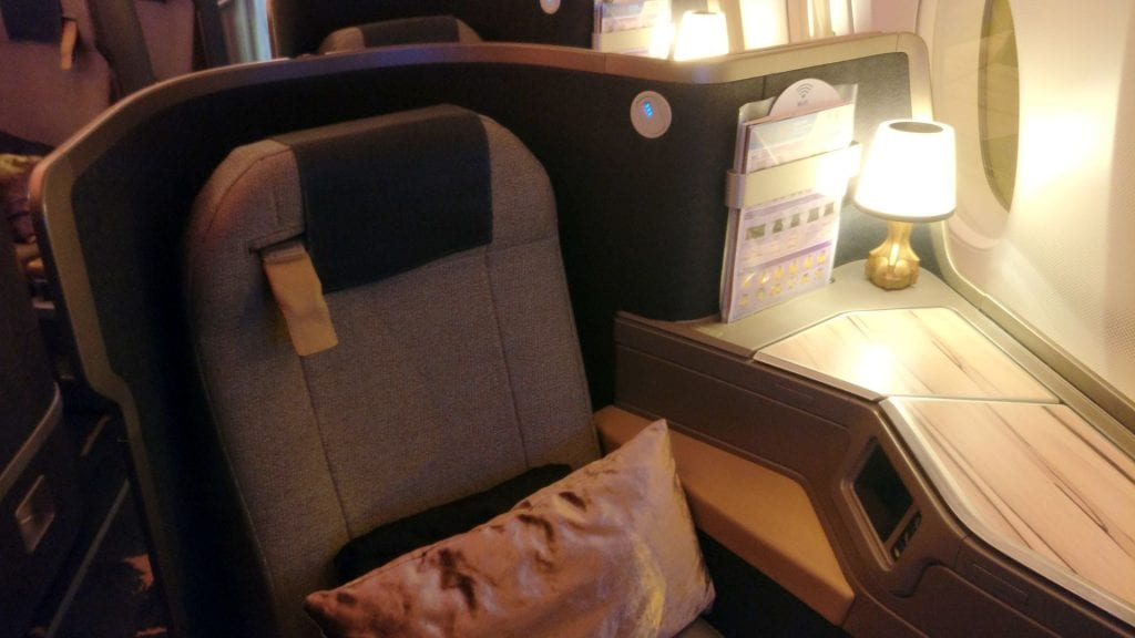 China Airlines Business Class Airbus A350 Sitz