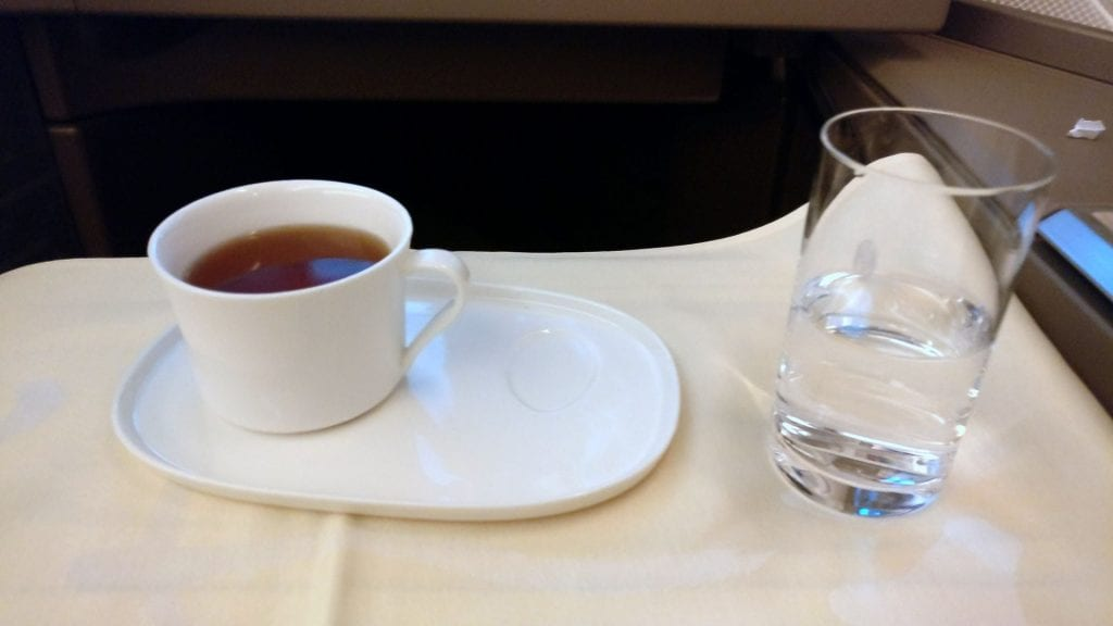 China Airlines Business Class Drinks