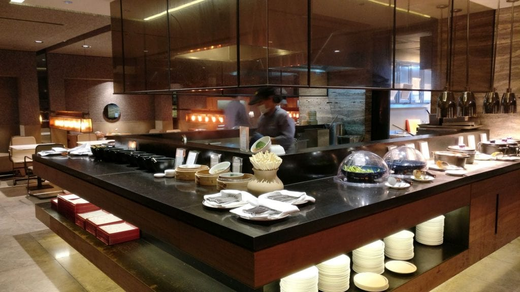 China Airlines Lounge Taipeh T1A Buffet