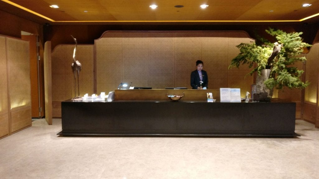 China Airlines Lounge Taipeh T1A Rezeption