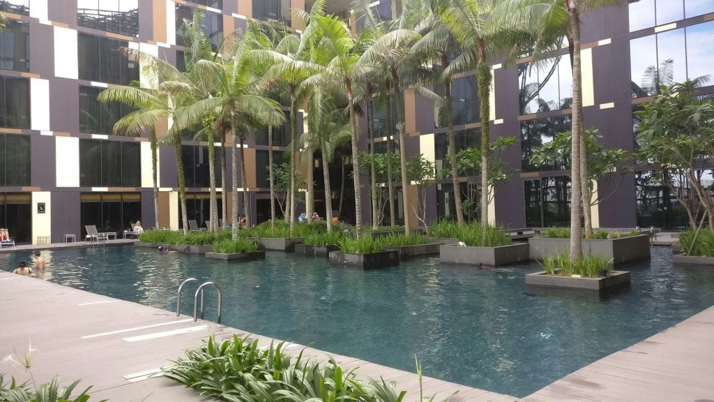 Crowne Plaza Singapur Changi Airport Pool 2