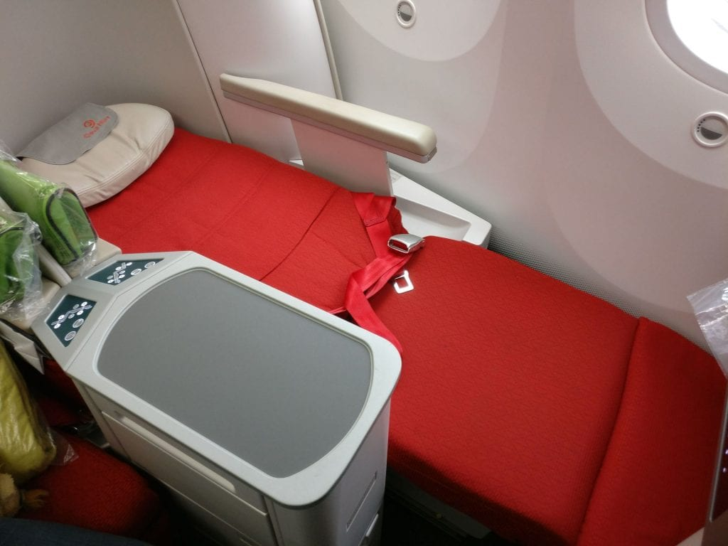 Ethiopian Airlines Business Class Boeing 787 Bed 2