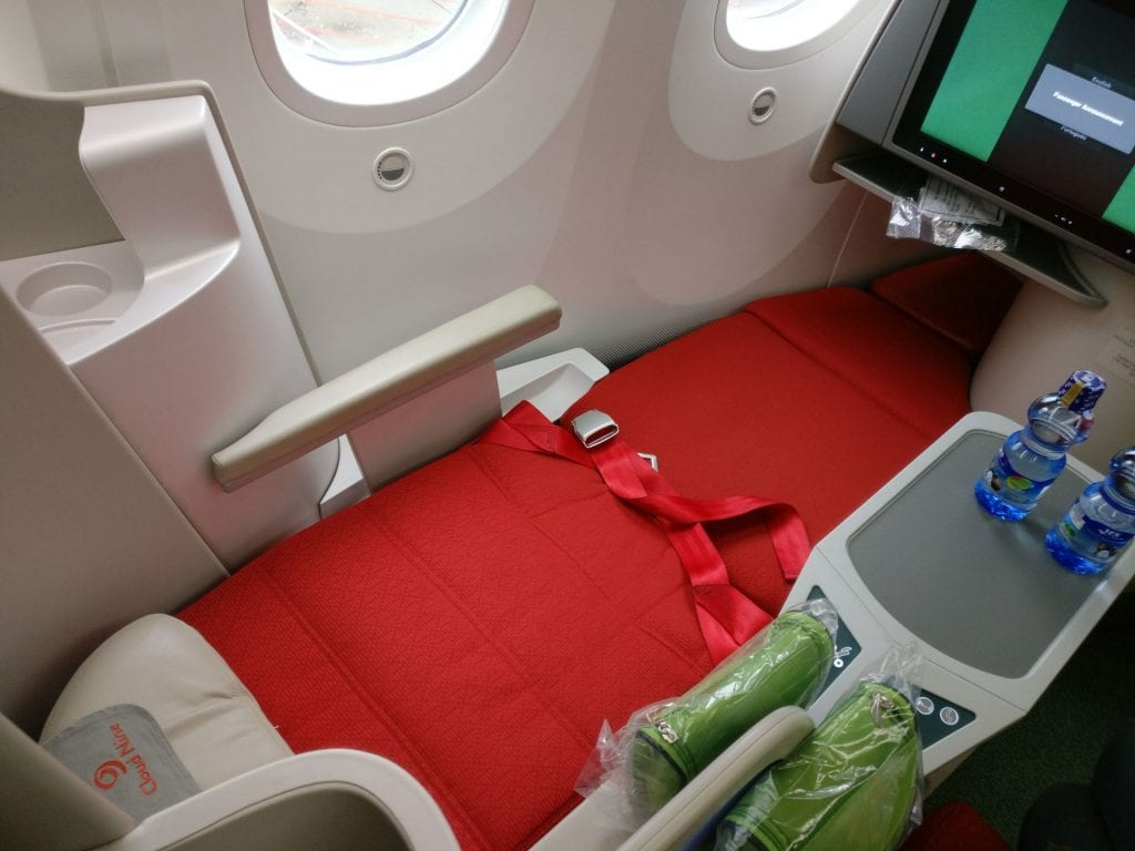 Ethiopian Airlines Business Class Boeing 787 Bed 4