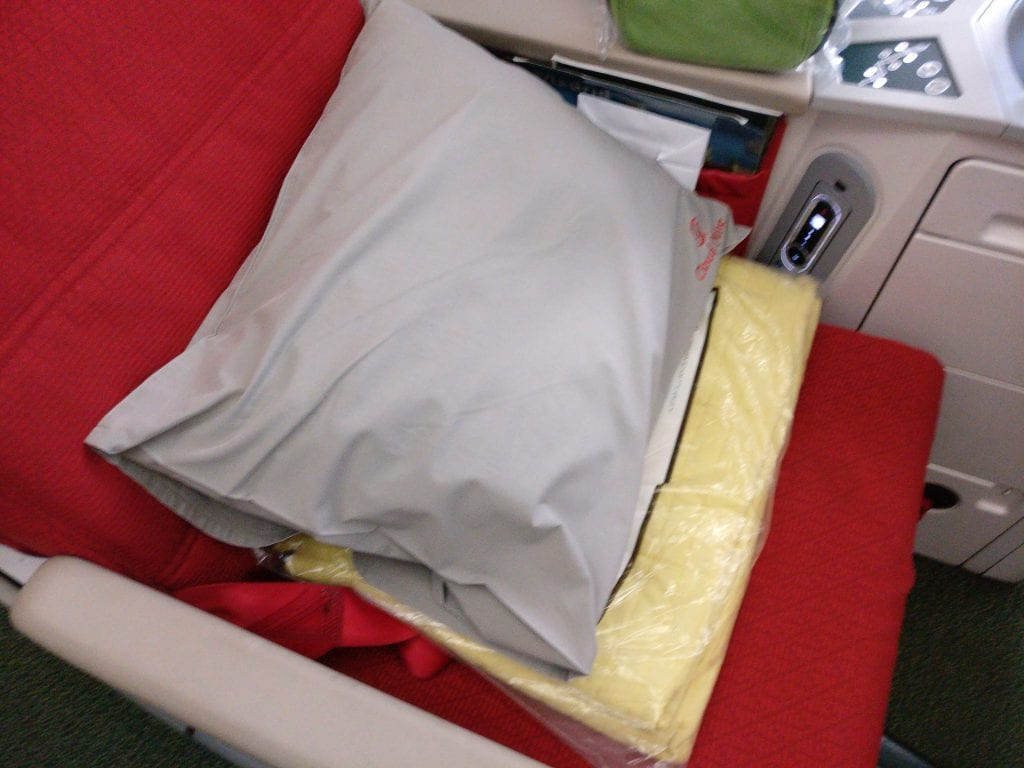 Ethiopian Airlines Business Class Boeing 787 Bedding