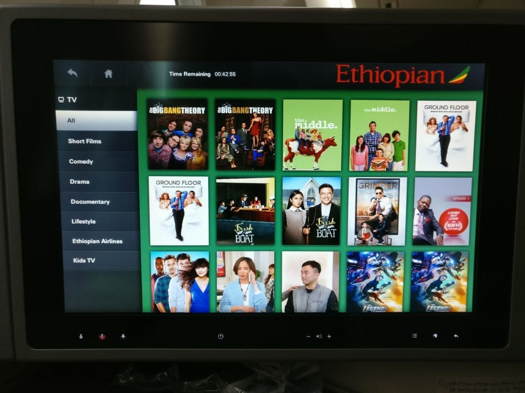 Ethiopian Airlines Business Class Boeing 787 Entertainment 3