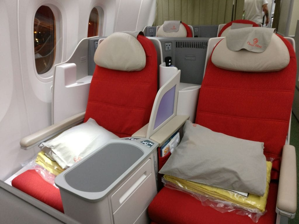 Ethiopian Airlines Business Class Boeing 787 Seat 11