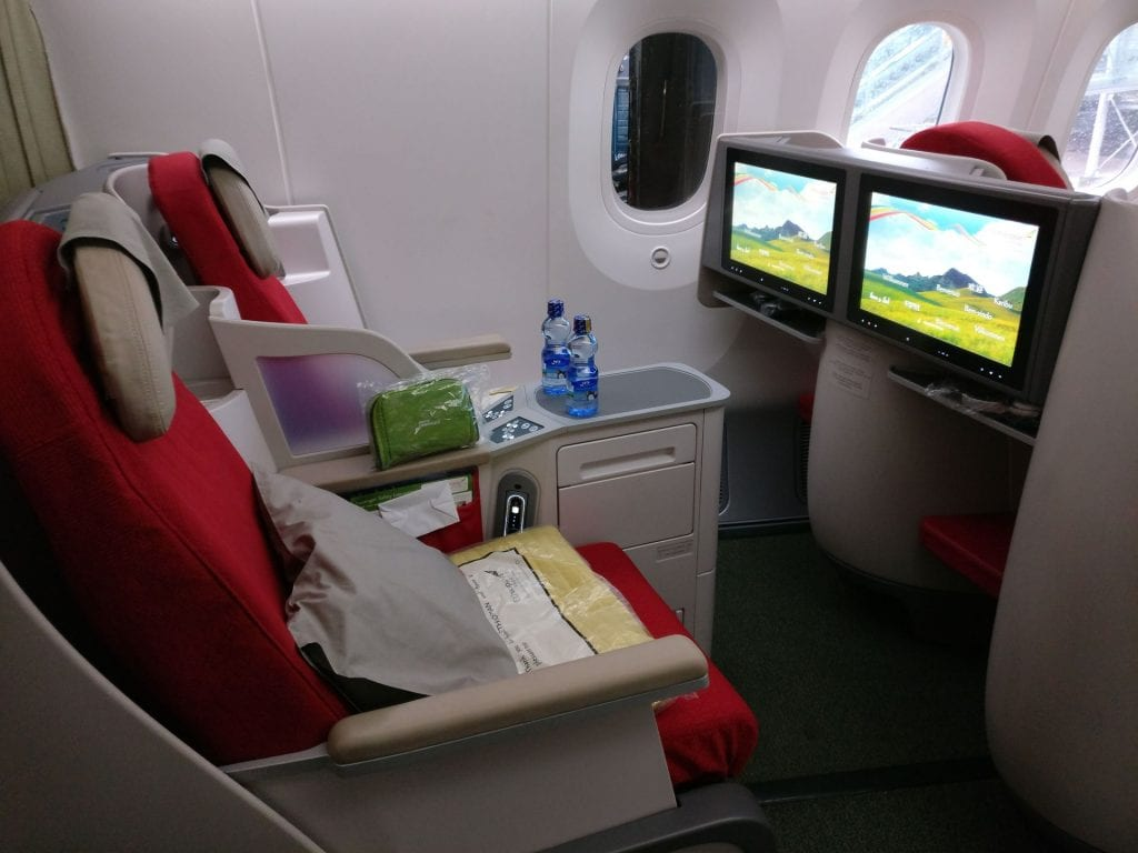 Ethiopian Airlines Business Class Boeing 787 Seat 2