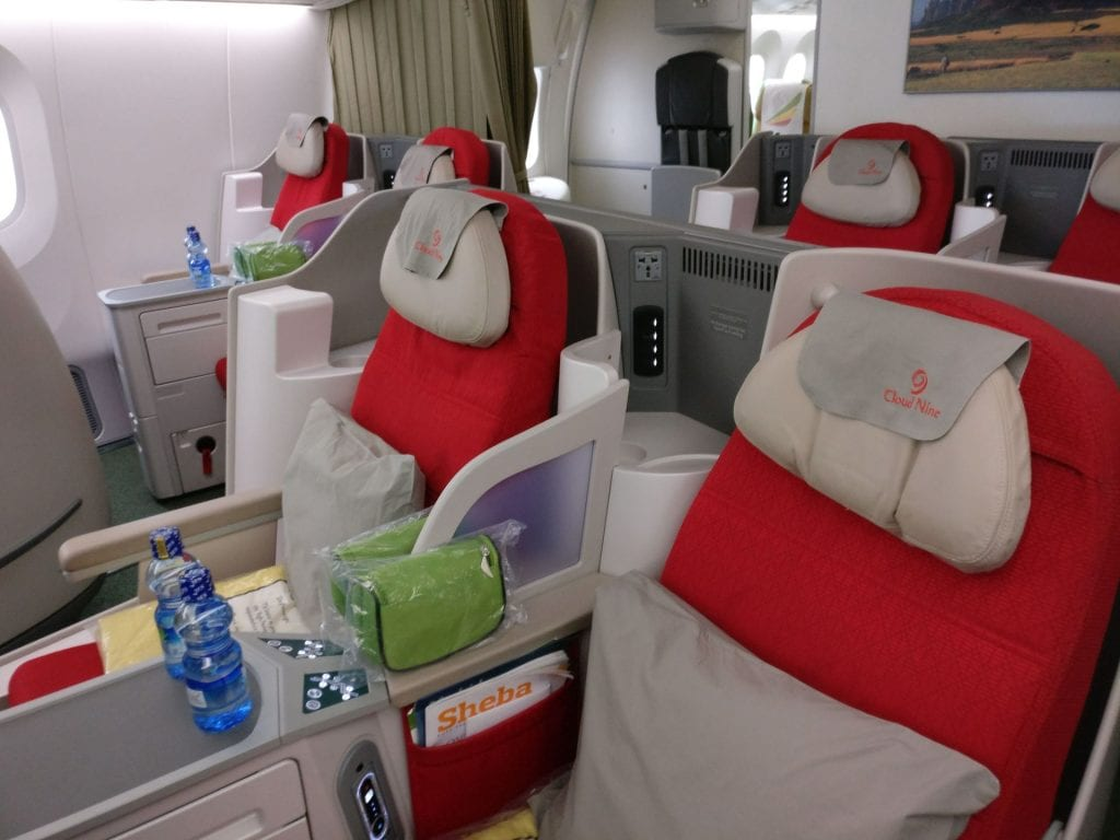 Ethiopian Airlines Business Class Boeing 787 Seat 4
