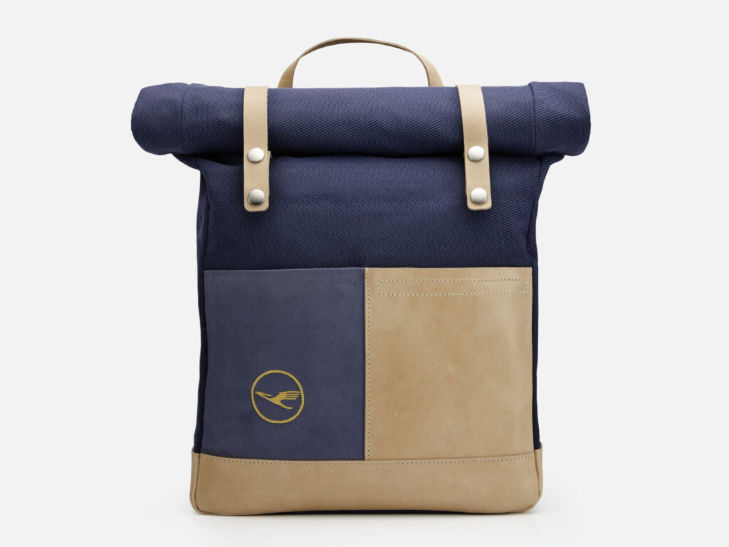 Lufthansa Upcycling Collection Messenger Backpack Rucksack