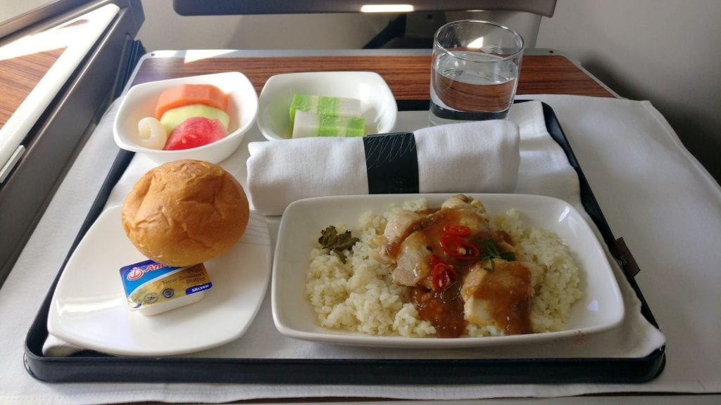 Garuda Indonesia Business Class Airbus A330 Mittagessen