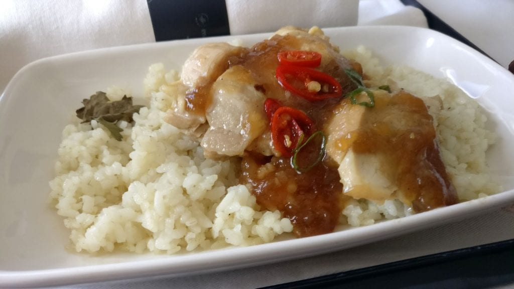 Garuda Indonesia Business Class Airbus A330 Mittagessen 2