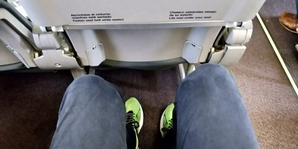 Iberia Business Class Kurzstrecke Sitzabstand