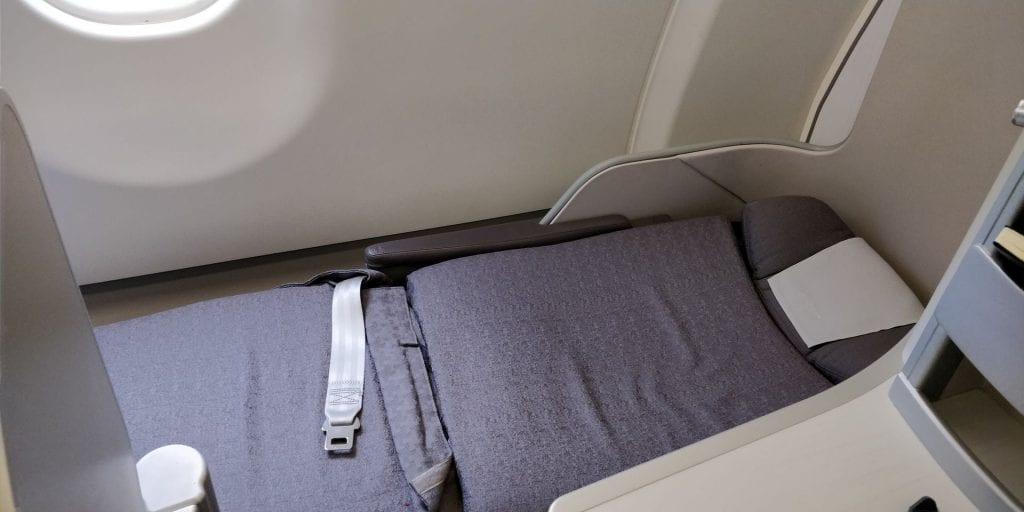Iberia Business Class Langstrecke Airbus A330 Sitz Bett