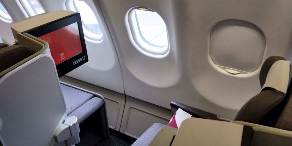 Iberia Business Class Langstrecke Airbus A330 Sitz Fenster