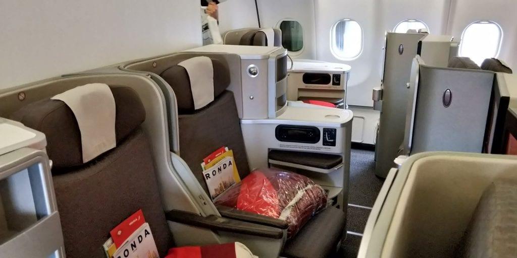 Iberia Business Class Langstrecke Airbus A330 Mittelsitz