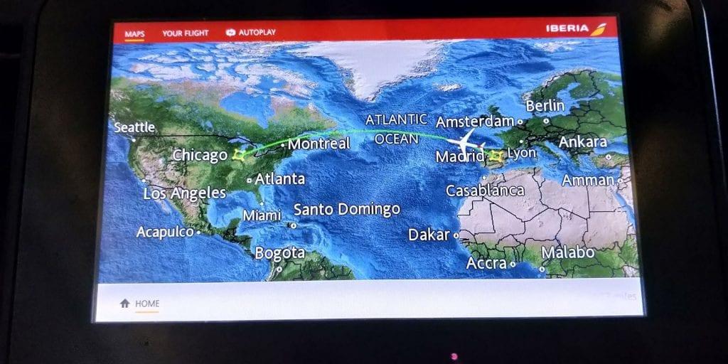 Iberia Economy Class Langstrecke Airbus A340 Entertainment