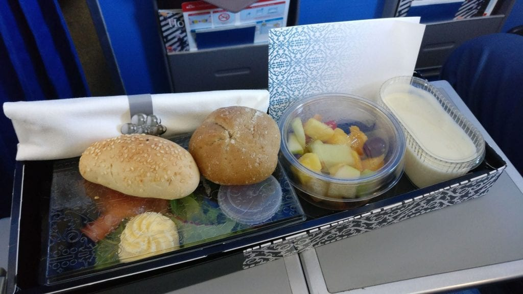 KLM Business Class Catering